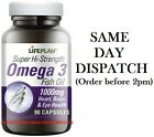 Lifeplan Hi-Strength Omega 3 Fish Oil 1000mg 90 Caps Heart,Brain Buy 4 at £36.00