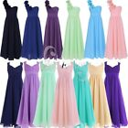 Chiffon Flower Girls Long Maxi Lace Bridesmaid Wedding Communion Gown Kids Dress