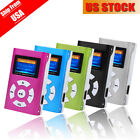 Mini USB Clip Metal MP3 Music Player LCD Screen Support 32GB Micro SD TF Card US