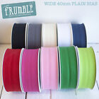 40mm Plain Bias 25m Roll - Bulk/Wholesale Binding Bunting Tape Sewing Trim Edgin