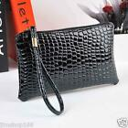 Women Handbag Bag Crocodile Leather Clutch Handbag Messenger Bag Coin Purse Hot
