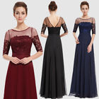 Ever-pretty Long Chiffon Half Sleeve Evening Dress Bridesmaid Formal Gown 08459