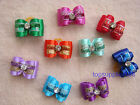 NEW Dog bows pet Grooming hair gift Pet charms mix double loop Accessories #B2