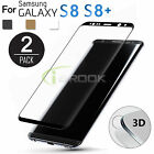 2 Full Coverage Real Tempered Glass Screen Protector Film For Samsung S8/8 Plus