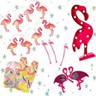 *Retro Pink Flamingo Party Tropical Beach Fairy Lights Hawaiian Beach Cocktail*