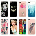 Patterned Soft TPU Silicone Crystal Clear Back Case Cover For iPhone 7 6 6s Plus