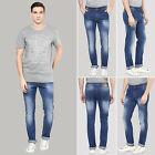 Richlook Blue Men's Denim Slim Fit Casual Straight Stretch Pants Size Available