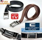 US STOCK! New Comfort Click Belt Leather With Steel Brown And Black For Men