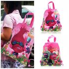 1PCS Trolls Children Cartoon Drawstring Backpack School Shopping Party Bags Gift image