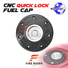 FRW BK SI CNC Quick Lock Fuel Cap For Kawasaki ZX 11 95-97 95 96 97