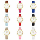 Hot Women Gold Rose Gold Silver Round Candy Colors Simple Quartz Wristwatch Lots
