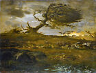 Classic French Llandscape Art Print: The Gust of Wind by Jean-Francois Millet