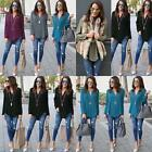 Blouse Fashion New Women V-neck Plus  Long Sleeve T-Shirt Casual Size Tops Loose