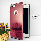 Mirror 360° Slim Hard Shell Tempered Glass Cover For iPhone 7 Red Case Gift Card