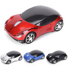 Stylish Car Model Wireless Optical Mouse Shaped Mause Game 1600DPI for PC Laptop
