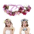 Girl Women Adjustable Garland Wreath Wedding Holidy Floral Wristband Headdress