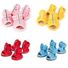 4pcs/set New Dog Summer Shoes Breathable Mesh Puppy Shoes Dog Sandals Shoes 2017