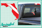 FLORIDA Shaped DIVE Flag Vinyl Decal Car Truck Sticker SCUBA Diving Decal
