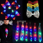 Fashion Man's LED Light Sequin Party Bowtie Necktie Glowing Colorful Bow Tie 1Pc