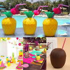 1/5/10/20Pcs Plastic Pineapple Drink Cups Tropical Party Barware Luau Beach Set