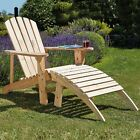 Adirondack Garden Chair Outdoor Patio Wooden Furniture Seat | Table | Footrest