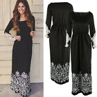 Fashion Women Long Sleeve Lace Floral Maxi Dress Party Cocktail Evening Dresses