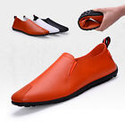 Mens PU Leather Shoes Slip On Loafers Casual Fashion Sneakers Driving Moccasins
