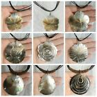 """unique Jewelry Zealand Abalone Shell Pendant Beads Handmade Necklace Chain 16"""""""