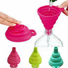 Yooocart Mini Silicone Gel Foldable Collapsible Style Funnel Hopper Kitchen Tool