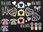 New Home / Moving House Die Cuts - Assorted Sets of 27 pcs in various styles