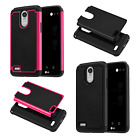 For LG Stylo 3 Rubber IMPACT TRI HYBRID Hard Protector Case Skin Cover Accessory