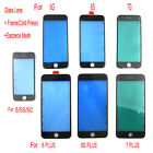 Front Outer Glass lens W/ Cold Press Frame Bezel + Earpiece Dust Mesh For iPhone
