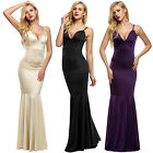 backless dresses uk - Women Strap V Neck Backless sleeveless Bodycon Fill-length Dress fullgown EH7E