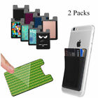2pcs Adhesive Credit ID Card Holder Wallet Case Cover For Universal  Cell Phone