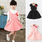 Girls Baby Kids Minnie Mouse Dress Toddler Cartoon Bows Fancy Tutu Skirt Outfits