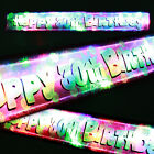 Flashing LED happy 30th birthday banner party decorations 14 led bulbs on/off