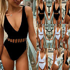 Women One Piece Monokini Swimsuit Swimwear Beachwear Push Up Bathing Suit Bikini