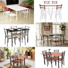 5 Piece Dining Set Table and 4 Chairs Kitchen Room Breakfast Furniture Hot J5K4
