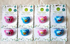 Disney Baby Girl Boy Glow In the Dark 2 Pk Soothers 0 - 6  Mths + New Bpa Free