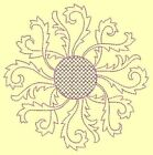 Anemone Quilt Squares 1- DESIGN 6- Anemone Machine Embroidery Singles In 4 Sizes