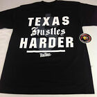 Texas Hustles Harder Black Shirt L-3XL One Deep Piranha Records