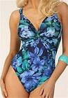 MIRACLESUIT SEXY PANDORA MIRACLE FLORAL PURPLE SWIM SUIT 12-18 SWIMMING COSTUME