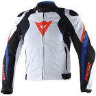 Dainese Raptors Textile Motorcycle Motorbike Jacket Blue White Red