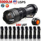 5000 Lm 3 Modes LED Flashlight Outdoor 14500 AA Battery Torch Light Lot US Stock