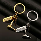 Women's Silver/Gold  Hairdresser Scissors Comb Stylist Key Ring Pendant KeyChain