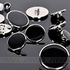 20PCS Black Silver Border Suit Button ABS Sewing Craft Decor 11 15 18 20 25mm