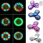 LED Flash Light Tri Fidget Hand Spinner Finger EDC Stress Reliever Desk Toy Gyro