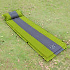 Newly Camping Mat Self-Inflatable Travel Pad Outdoor Sleeping Air Bed W/Pillow