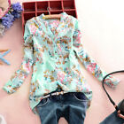 Plus Size 8-26 Celmia Women V Neck Boho Floral Shirts Casual T Shirt Blouse Tops