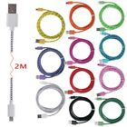 Universal Round Micro USB Data Sync Charger Cable Cord For Samsung 2M